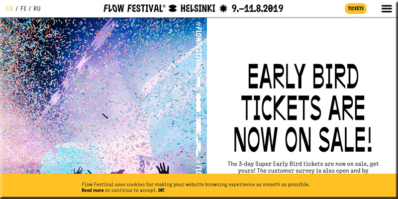 Flow Festival Website Design