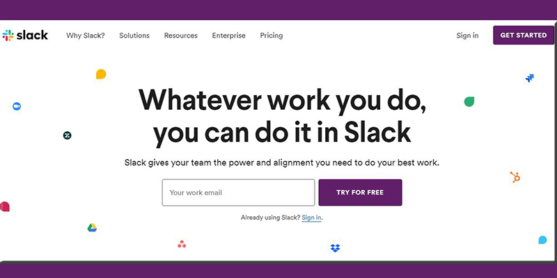 Slack Website Design