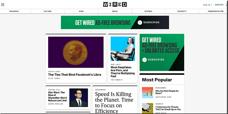 Wired Website Design